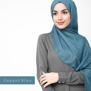 Hijab-Set Copper Blue aus Viskose