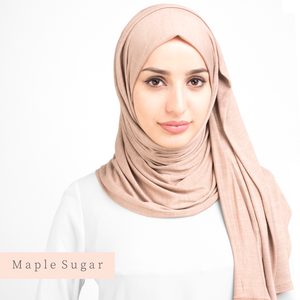 Hijab-Set Maple Sugar aus Jersey