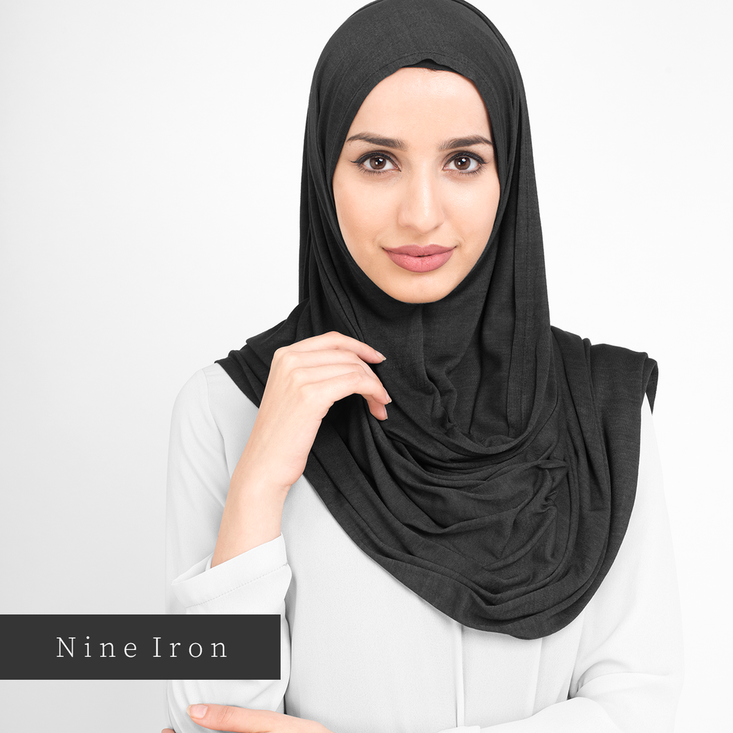 Hijab-Set Nine Iron aus Jersey