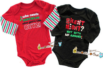 Personalized Christmas BodySuits Onesies