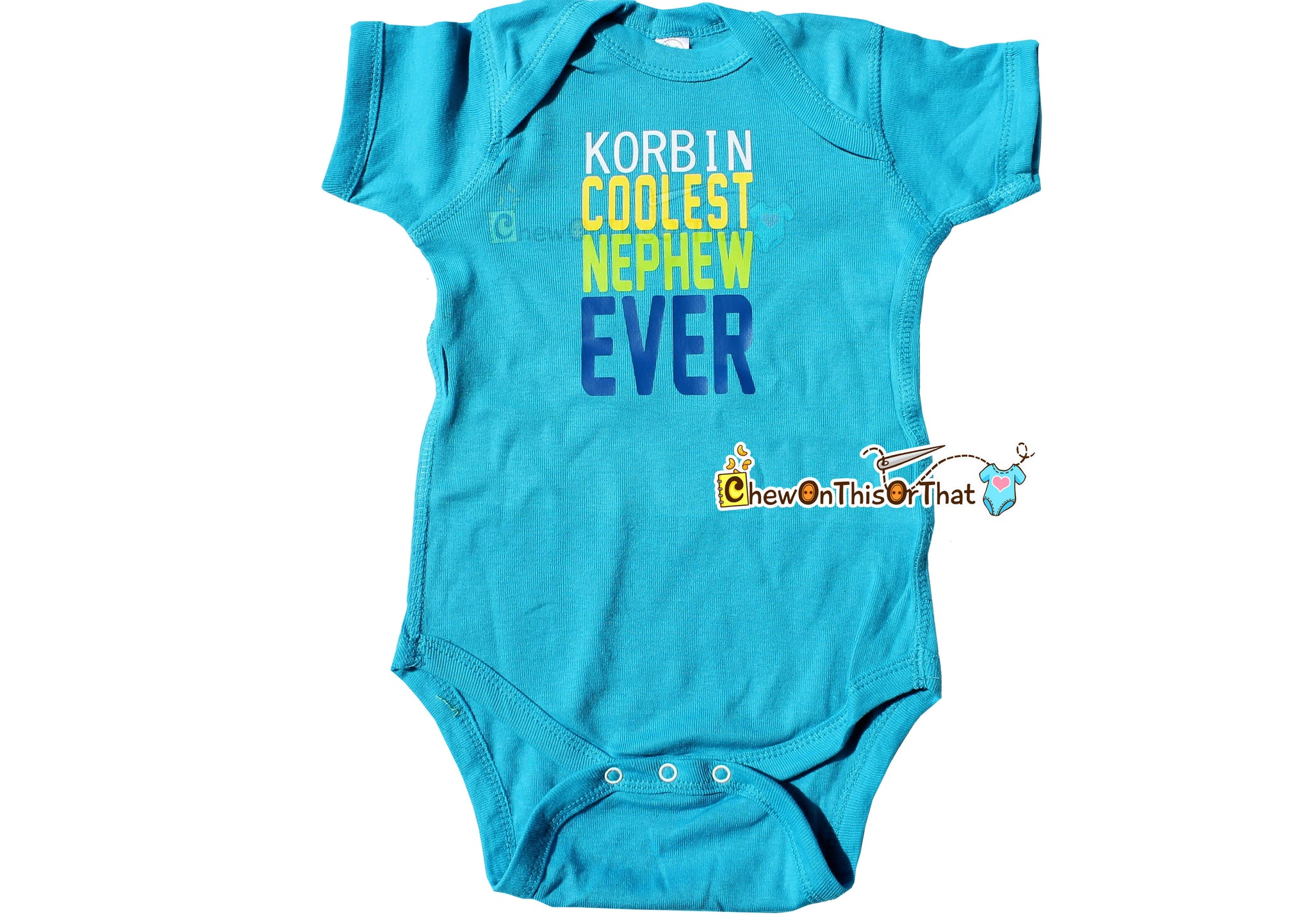 Coolest nephew ever personalized blue statement bodysuit new baby coolest nephew ever personalized blue statement bodysuit new baby gift from aunt or uncle negle Gallery