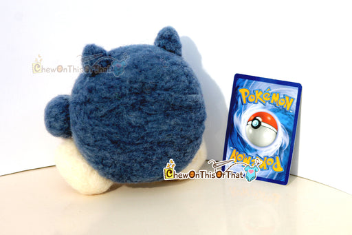 Pokemon Snorlax Needle-Felted Plush Figure, Plush Toy, Felted Collectible, Plushie - Ideal for Gamers, Geeks, Teens, Kids - Chew On This Or That