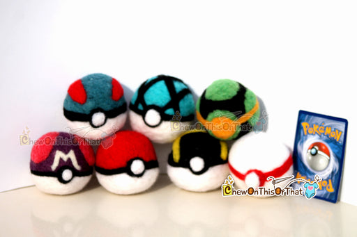 Pokemon Ultra Ball Needle-Felted Plush Figure - Chew On This Or That