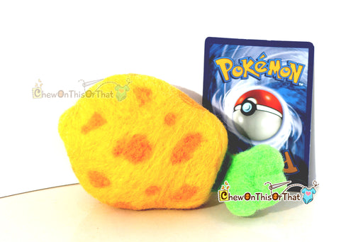 Pokemon Sitrus Berry Needle-Felted Plush Figure, Prop, Felted Collectible, Plush- Ideal for Gamers, Geeks, Teens, Kids - Chew On This Or That