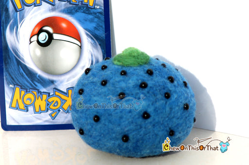 Pokemon Oran Berry Needle-Felted Plush Figure, Prop, Felted Collectible, Plush- Ideal for Gamers, Geeks, Teens, Kids - Chew On This Or That