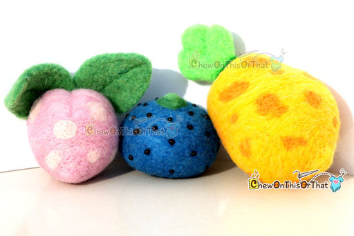 Pokemon Pecha Berry Needle-Felted Plush Figure, Prop, Felted Collectible, Plush- Ideal for Gamers, Geeks, Teens, Kids - Chew On This Or That