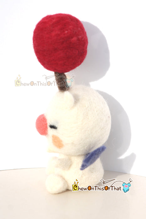 Final Fantasy Kingdom Hearts Moogle Needle Felted Plush - Chew On This Or That
