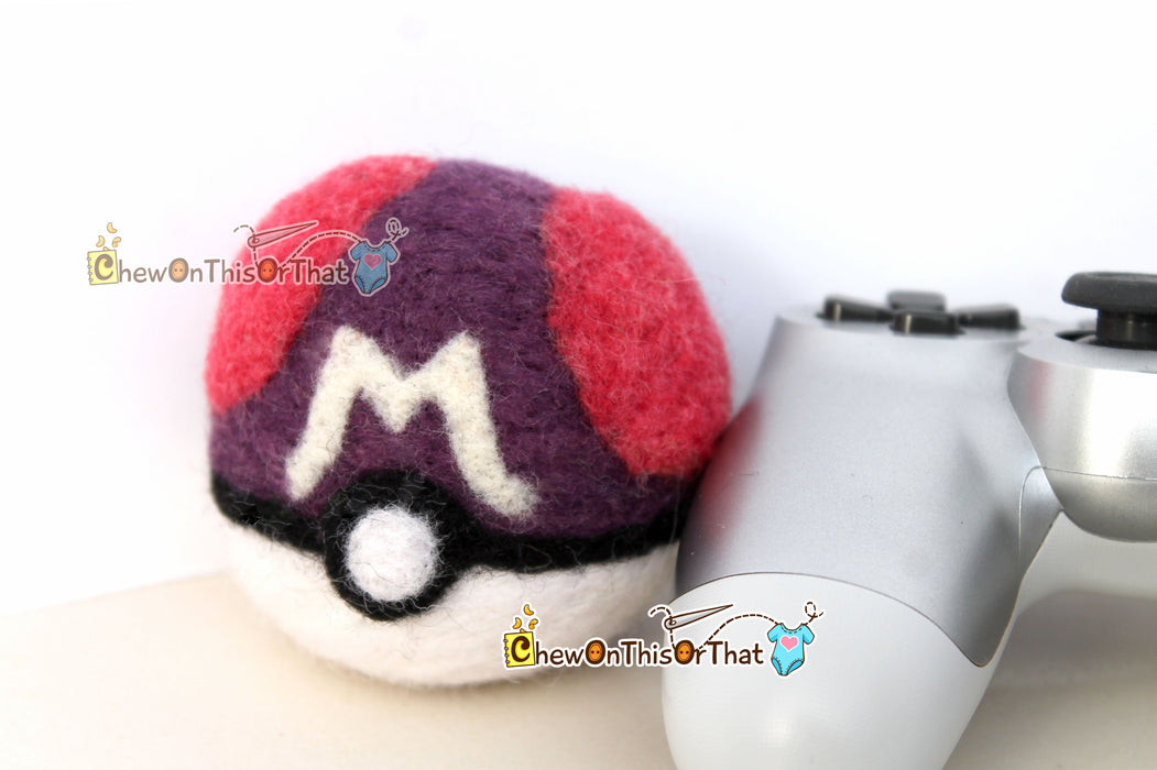 Pokemon Master Ball Needle Felted Plush Figure - Chew On This Or That