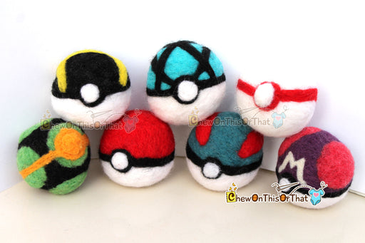 Pokemon Great Ball Needle Felted Plush Figure - Chew On This Or That