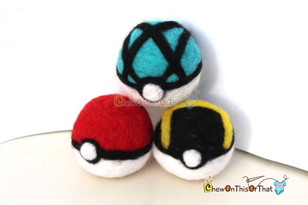 Pokemon Pokeball Needle-Felted Plush Figure - Chew On This Or That
