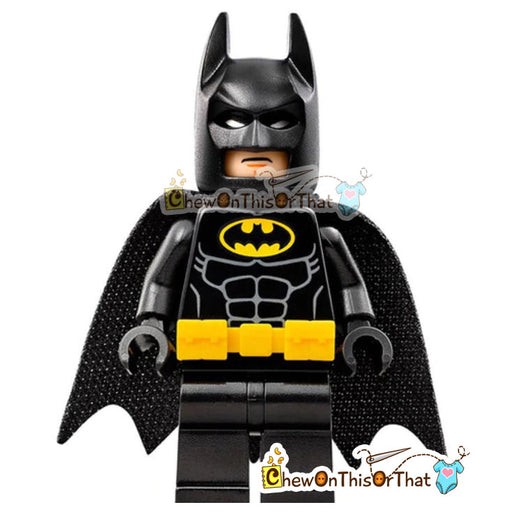 Batman - Bruce Wayne Lego Minifigure Custom Collectible Toy - Chew On This Or That