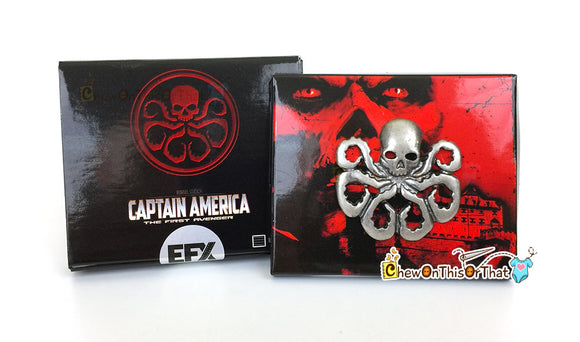 Marvel Captain America the First Avenger Hydra Lapel Pin - Movie Prop Replica - Chew On This Or That