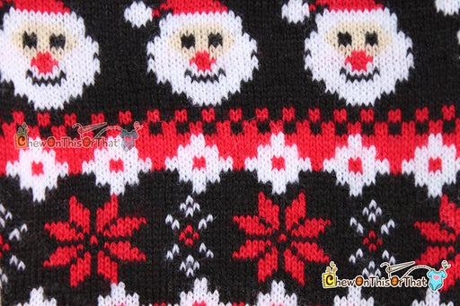 Ugly Santa Sweater Personalized for Pets, Dog and Cats - Chew On This Or That