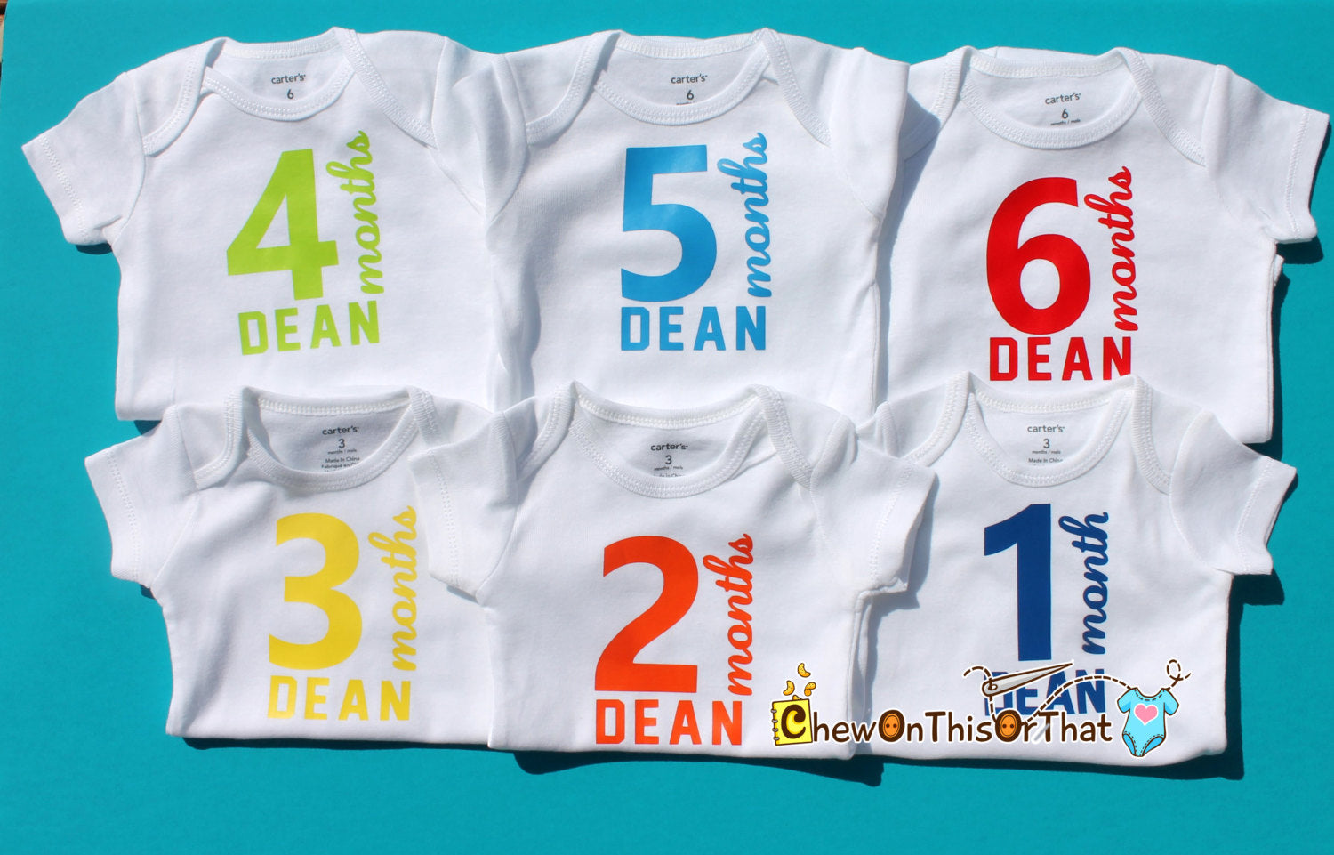 Boys sports jersey personalized 12 month complete monthly birthday boys sports jersey personalized 12 month complete monthly birthday milestone onesie gift set bodysuit negle Images