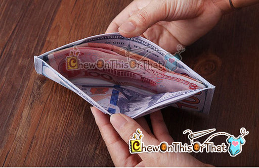 100 Dollar Bill Money Wallet - Chew On This Or That