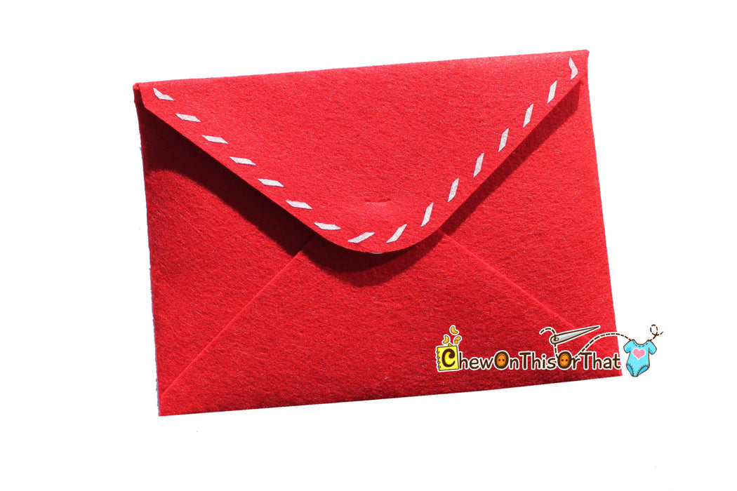 Personalized Extra Large Red Letter To Santa Envelope - Chew On This Or That