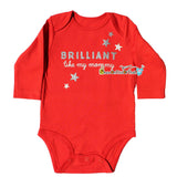 Brilliant Just Like Mommy Red Long Sleeve Baby Girl Onesie, Newborn Bodysuits, Top, Mothers Day, New Mom Shower Gift - Chew On This Or That