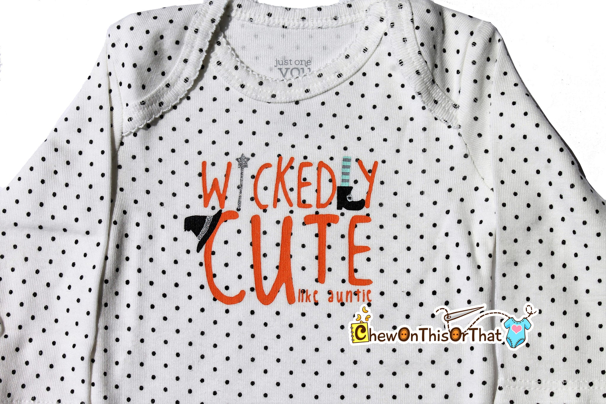 b911aafd0 ... Wickedly Cute Like My Auntie Baby's First Halloween Statement Onesie  Costume - Auntie and Niece Personalized