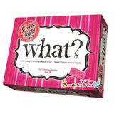 What? Girls Night Edition Board Game, Ladies Game Night, Bachelorette Parties, Drinking Games, Dinner Parties, Pajama Party, Girls Night Out - Chew On This Or That