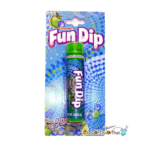 Fun Dip Razzle Apple Flavored Lip balm in package