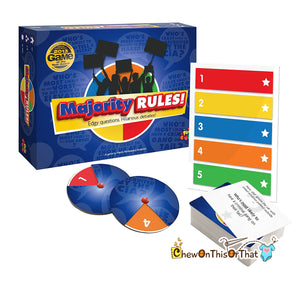 Majority Rules How Will You Respond Board Game, Family Game Night, Drinking Games, Dinner Parties, Drinking Party, Adult Pub Game Show - Chew On This Or That