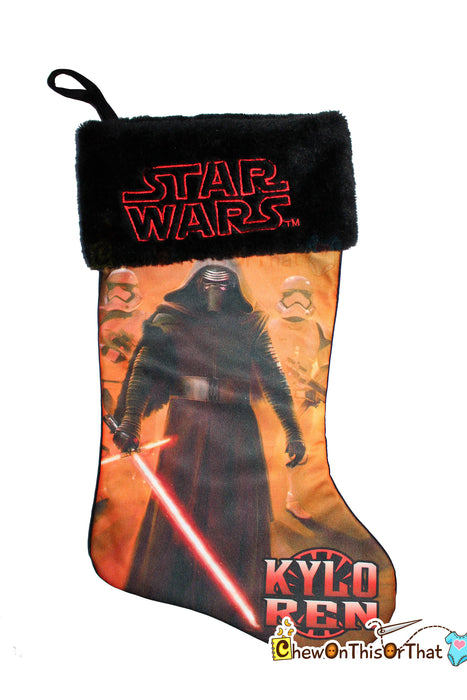 Star Wars Kylo Ren Personalized Embroidered Christmas Stocking - Chew On This Or That