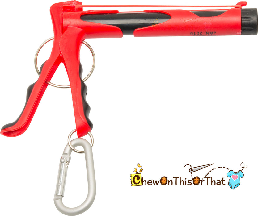 Retro Toy Rubber Band Shooter - Toy Gun Blaster - Chew On This Or That