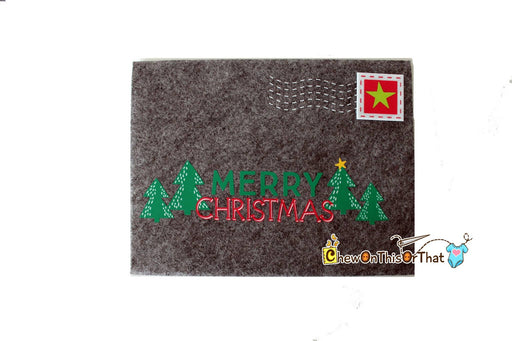 Merry Christmas Extra Large Personalized Gray Gift Letter & Card Holder Envelope, Letter to Santa, Adult Wish List, Secret Santa - Chew On This Or That
