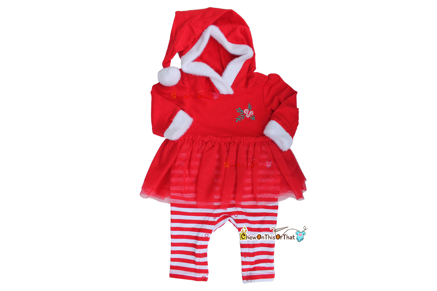 Rockettes Inspired Mrs Santa Claus Red Bodysuit Dress Christmas - Chew On This Or That
