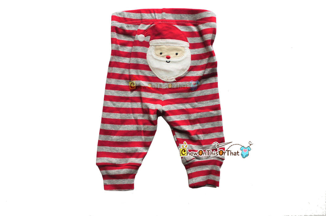 Dear Santa I've Been So Good Embroidered Long Sleeve Gray Bodysuit & Santa Pants Set for Infants First Christmas - Chew On This Or That