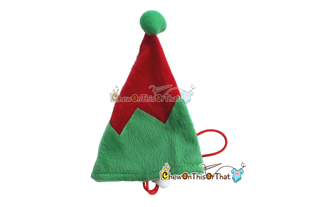 Green and Red Christmas Elf Costume Outfit for Dogs and Pets - Chew On This Or That