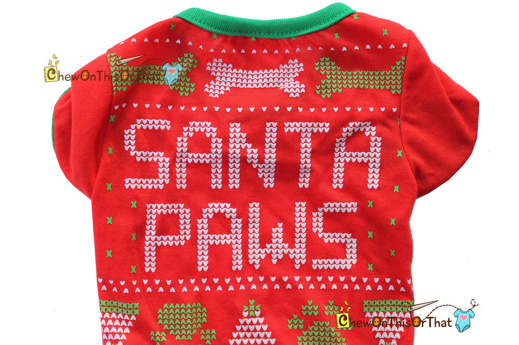 Santa Paws Top for Pets, Dog, Cats and Small Pets - Chew On This Or That