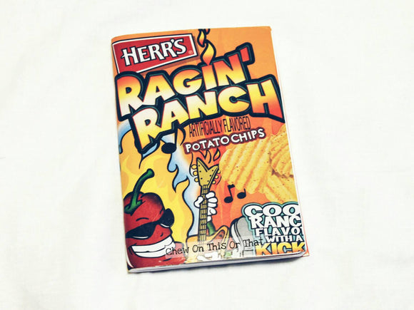Herr's Ragin Ranch Upcycled Potato Chip Notebook - Mini Journal, Memo Pad, Bullet To Do List, Paper Planner - Chew On This Or That