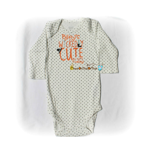 Wickedly Cute Like My Auntie Baby's First Halloween Statement Onesie Costume - Chew On This Or That