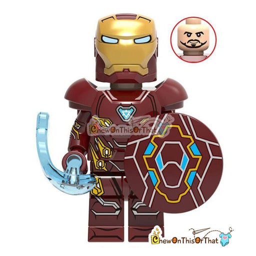 Iron Man - Tony Stark Marvel Lego Custom Collectible Toy - Chew On This Or That