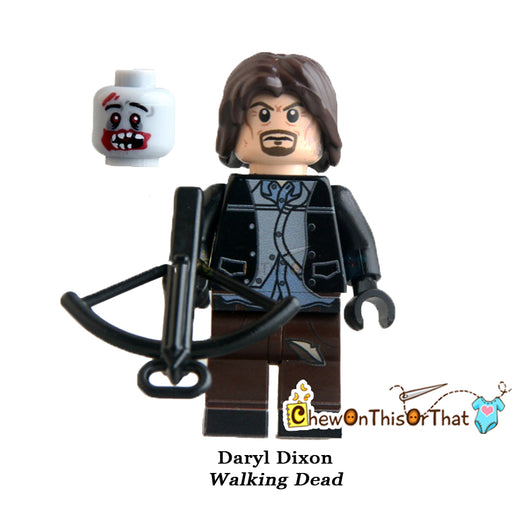 Walking Dead Daryl Custom Minifigure Lego Toy - Chew On This Or That