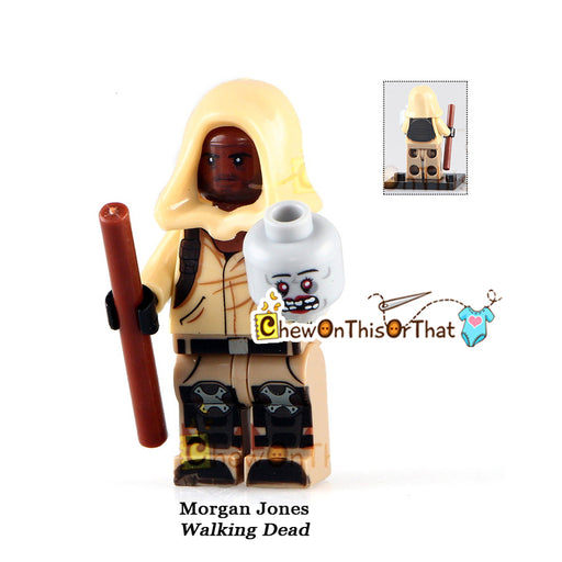 Walking Dead and Fear the Walking Dead Morgan Custom Lego Minifigure - Chew On This Or That