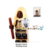 Walking Dead Morgan Custom Lego Minifigure - AMC Zombie Horror Television Series Bricks - Chew On This Or That