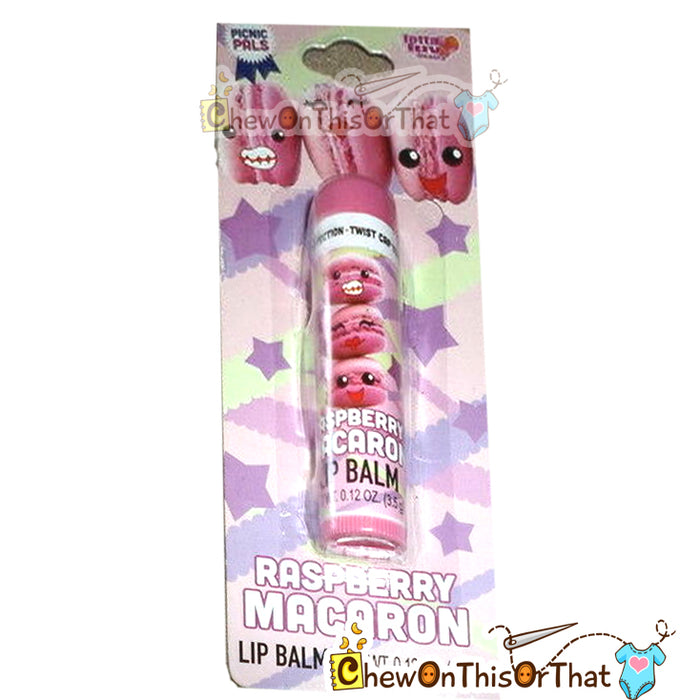 Raspberry Macaron Lip Balm by Lotta Luv - Chew On This Or That