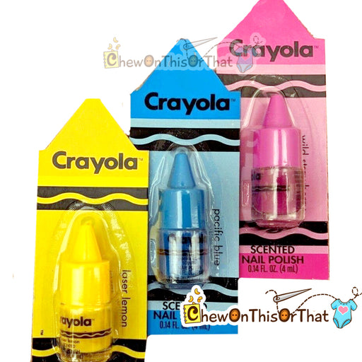 Crayola Scented Nail Polish by Lotta Luv Beauty - Chew On This Or That