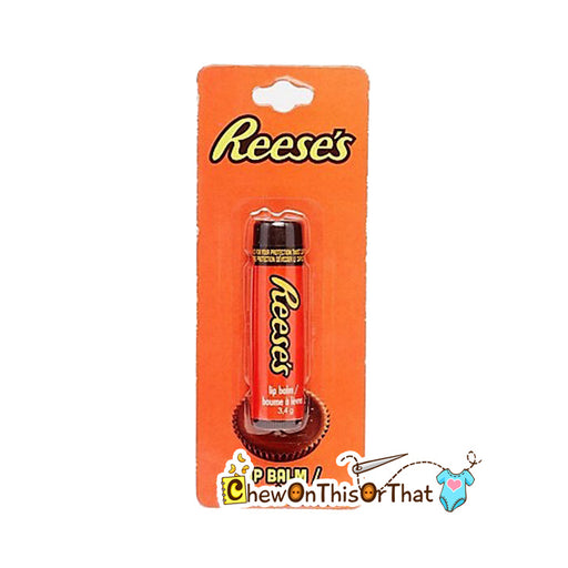 Reese's Chocolate Flavored Lip Balm, Reese Peanut Butter Chocolate Bar, Chocolate Candy Flavor Chapstick, Stocking Stuffer Party Bag Favor - Chew On This Or That