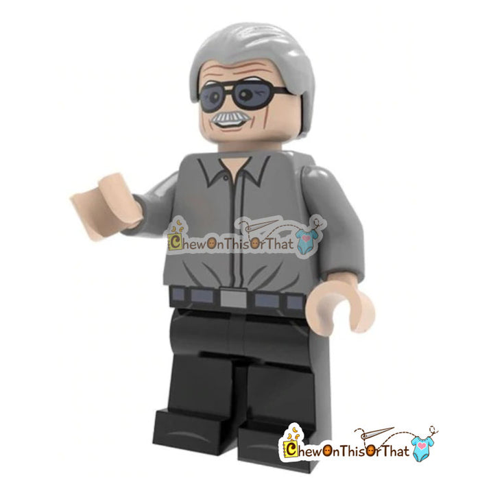 Stan Lee Lego Minifigure Custom Collectible Toy - Chew On This Or That