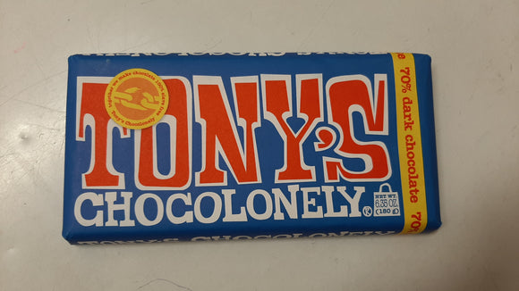 Tony's Chocolonely Dark Chocolate 180g