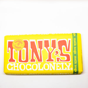 Tony's Chocolonely Chocolate Bar Nougat 180gr
