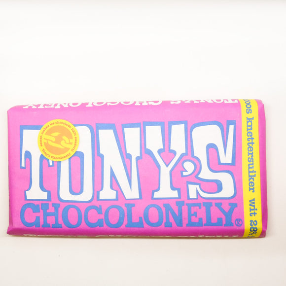 Tony's Chocolonely Chocolate Bar White 180gr