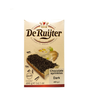 De Ruijter Dark Chocolate Sprinkles 400gr