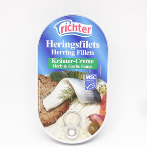 Richter Herring Fillets Herb & Garlic Sauce 200gr