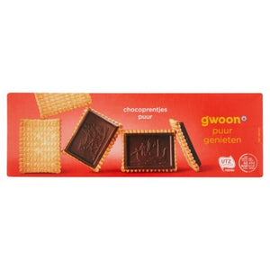 G'woon Dark Chocolate Coated Biscuits 150gr