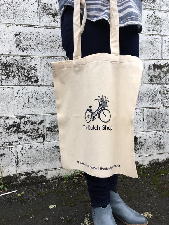 The Dutch Shop logo tote bag