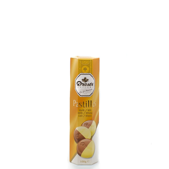 Droste Milk/White Chocolate Pastilles 100gr